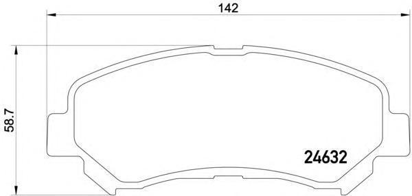 Колодки тормозные дисковые, комплект BEHR-HELLA 8DB3550137818DB355013781