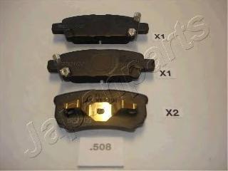 Колодки тормозные дисковые Japanparts PP508AFPP508AF
