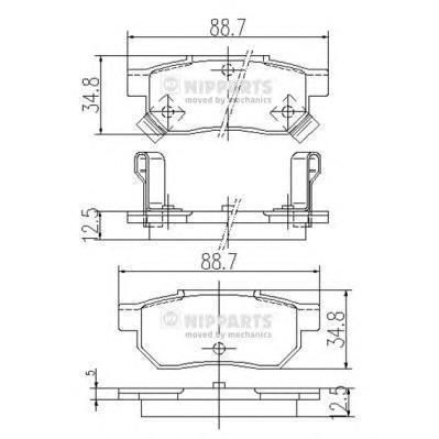 Колодки тормозные задние Nipparts J3614004J3614004