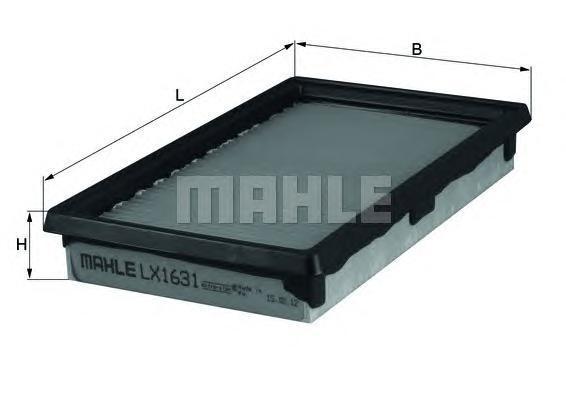 Фильтр воздушный Mahle/Knecht LX1631LX1631
