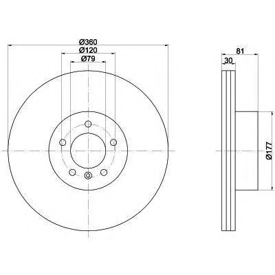 Диск тормозной передний вентилируемый Textar 9217840392178403