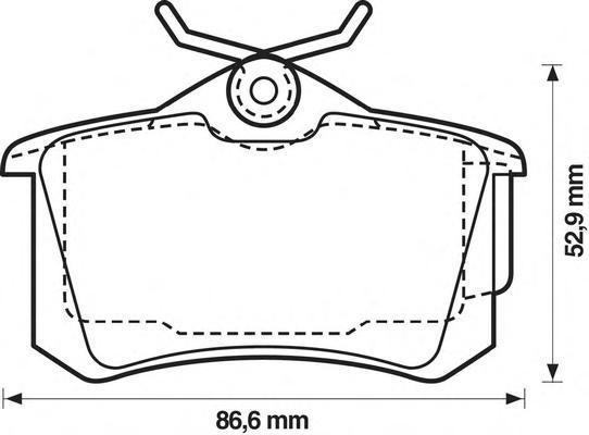 Колодки тормозные задние Jurid 573005J573005J
