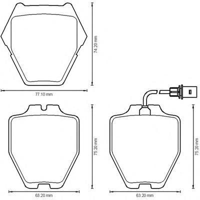 Колодки тормозные дисковые 4 шт, передние Jurid 573208J573208J
