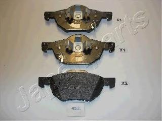 Колодки тормозные дисковые Japanparts PA452AFPA452AF