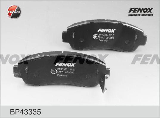 Колодки тормозные дисковые Fenox BP43335BP43335
