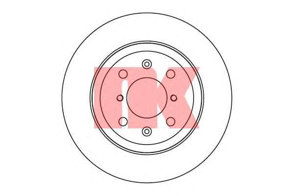 Диск тормозной NK 205213 комплект 2 шт205213