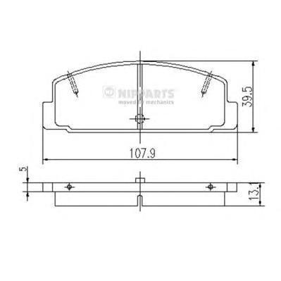 Колодки тормозные задние Nipparts J3613002J3613002