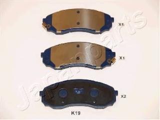 Колодки тормозные дисковые Japanparts PAK19AFPAK19AF