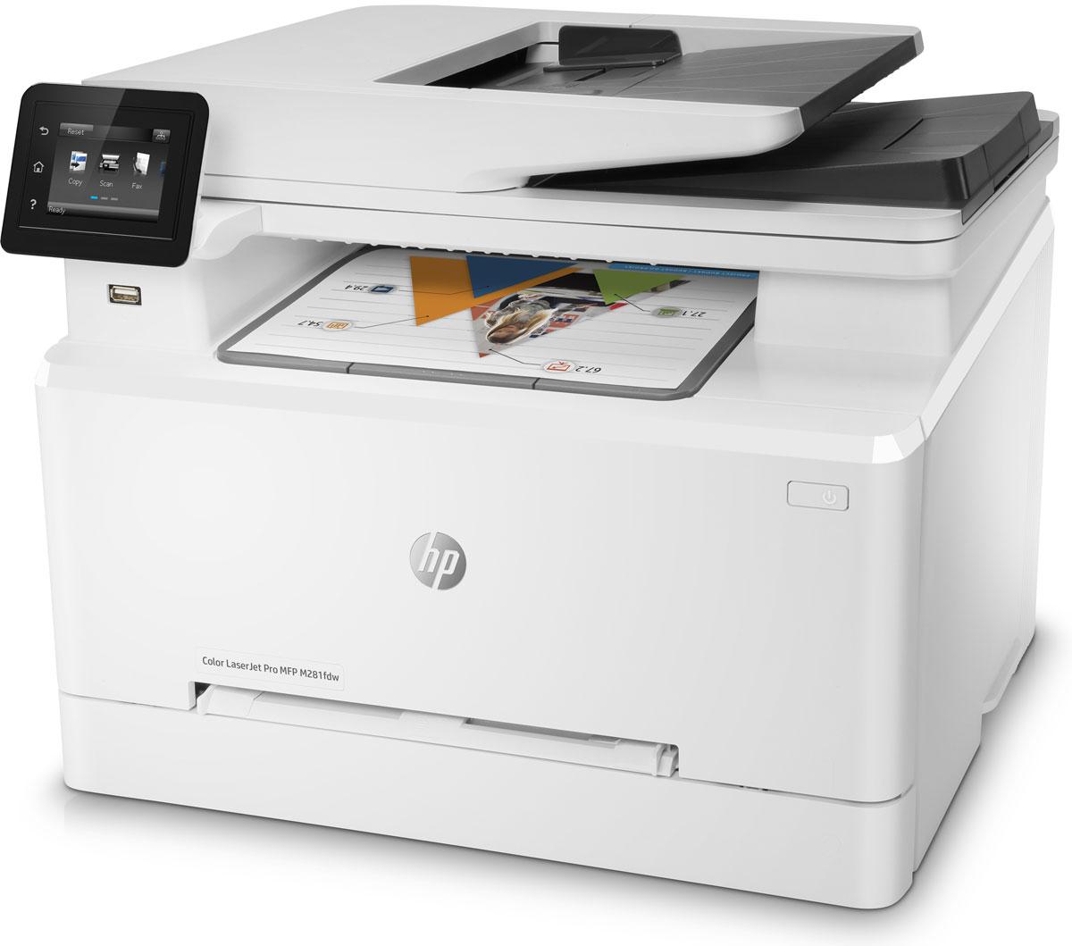 HP Color LaserJet Pro M281fdw МФУT6B82AПринтер HP Color LaserJet Pro M281fdw с поддержкой динамической безопасности предназначен для использования только с картриджами,оснащенными оригинальной микросхемой HP. Картриджи с микросхемами других производителей могут не работать, а работающие в настоящеевремя могут не работать в будущем.Повысьте производительность благодаря цветному многофункциональному устройству. Оцените лучшие в своем классе скорость двусторонней печати и время вывода первой страницы (FPOT), которыми отличаются устройства HP. Оцените преимущества автоматической двусторонней печати и быстро выполняйте разные задачи с помощью устройства автоматическойподачи документов на 50 листов. Сканируйте и сразу отправляйте полученные файлы по электронной почте, в сетевые папки или т. п. Защитите данные, устройства идокументы. Не отвлекайтесь от работы и реже загружайте бумагу благодаря лотку емкостью 250 листов. Ускорьте работу с многостраничными документами с помощью функции автоматической двусторонней печати.Больше страниц. Выше производительность. Лучше защита. Оригинальные лазерные картриджи HP с технологией JetIntelligence обеспечивают высокое качество цветной печати и отличаютсяувеличенным ресурсом. Технология защиты от подделок позволяет сохранить знаменитое высочайшее качество HP. Тратьте меньше времени на замену картриджей при использовании дополнительных картриджей увеличенной емкости. Предварительно установленные оригинальные лазерные картриджи HP позволяют приступить к печати сразу после получения устройства. Удобная печать и сканирование с мобильных устройств с помощью приложения HP Smart. Надежное и быстрое подключение благодаря двухдиапазонному адаптеру Wi-Fi. Подключите смартфон или планшет напрямую к принтеру и выполняйте печать без подключения к сети. Чтобы выполнить печать, просто коснитесь кнопки печати на смартфоне или планшете. Струйный или лазерный принтер: какой лучше? Статья OZON Гид