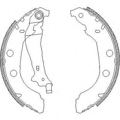Колодки тормозные дисковые Remsa, комплект. 409200409200