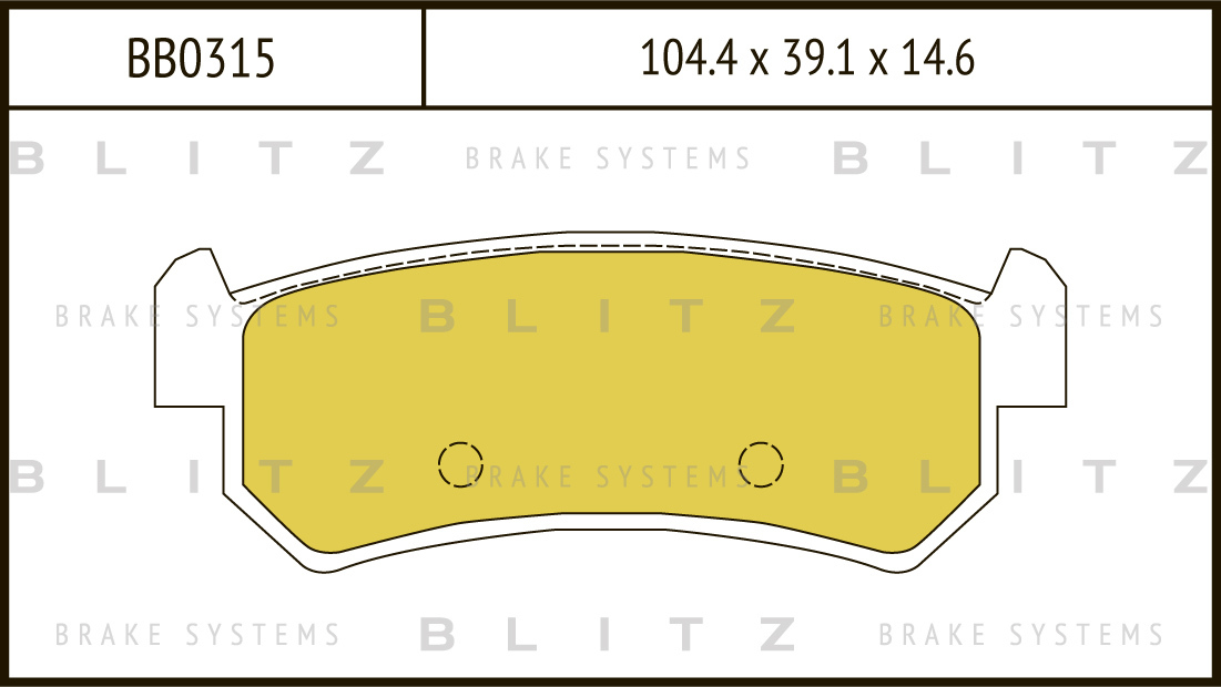 Колодки тормозные дисковые BLITZ автотовары BB0315BB0315