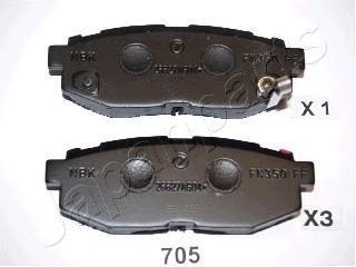 Колодки тормозные дисковые Japanparts PP705AFPP705AF