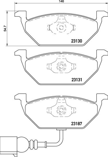 Колодки тормозные дисковые, 4 шт Textar 23131012313101