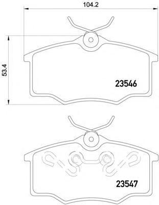 Колодки тормозные дисковые, 4 шт Textar 23546012354601