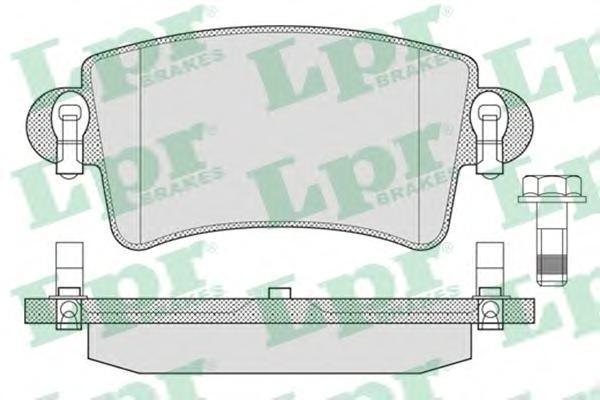 Колодки тормозные задниеLPR / AP 05P79105P791
