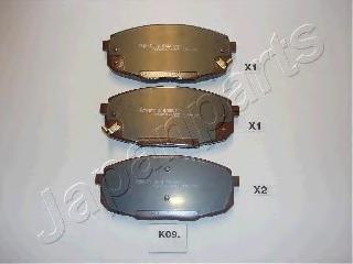 Колодки тормозные дисковые Japanparts PAK09AFPAK09AF