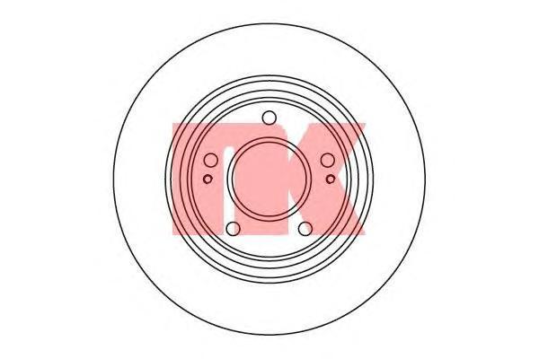 Диск тормозной NK 203046 комплект 2 шт203046