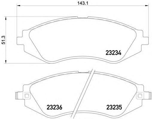 Колодки тормозные Textar 23234012323401