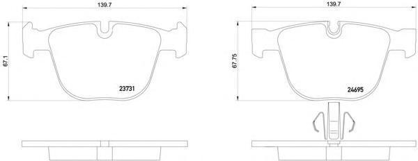 Колодки тормозные BMW 7 08 задние Textar 23731012373101