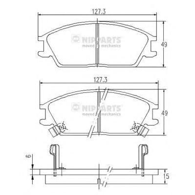 Колодки тормозные передние Nipparts J3600515J3600515