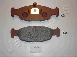Колодки тормозные дисковые Japanparts PA390AFPA390AF