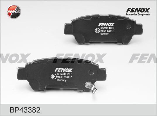 Колодки тормозные дисковые Fenox BP43382BP43382
