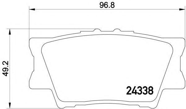 Колодки тормозные дисковые, комплект BEHR-HELLA 8DB3550068818DB355006881