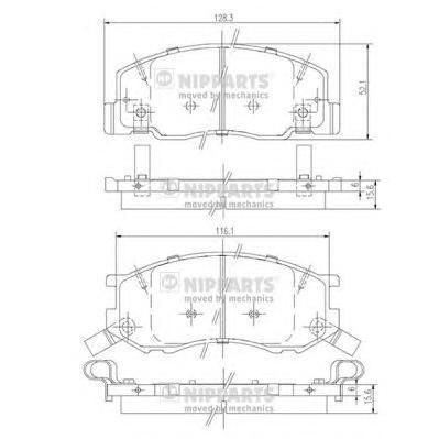 Колодки тормозные дисковые Nipparts J3602114J3602114