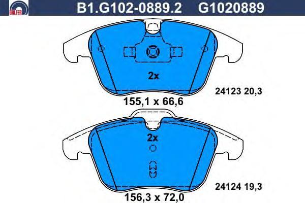Колодки тормозные дисковые Galfer B1G10208892B1G10208892