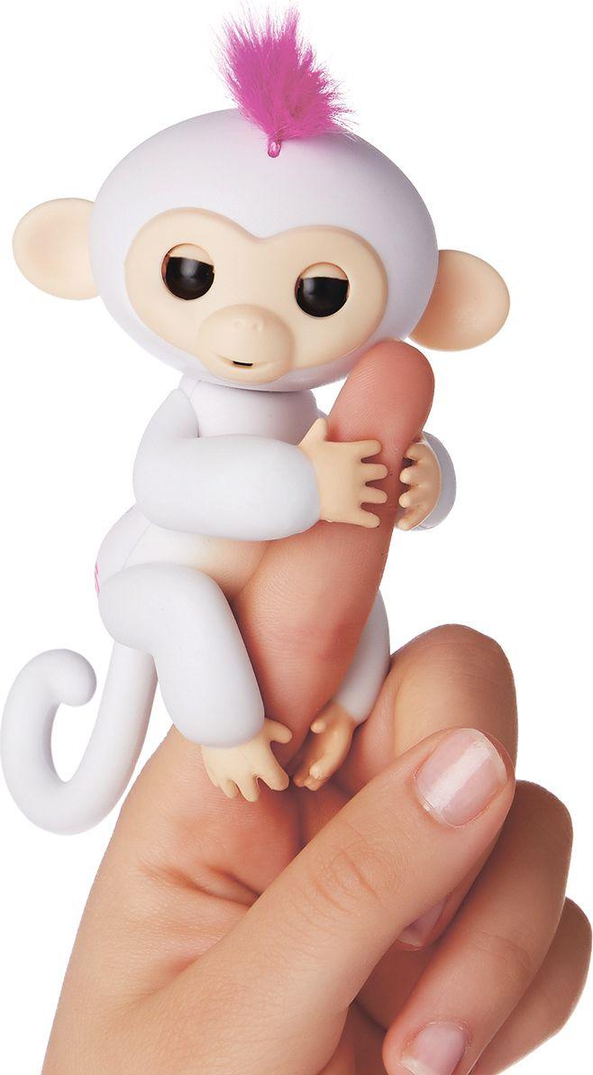 Fingerlings Интерактивная игрушка Обезьянка София цвет: белый, 12 см - Интерактивные игрушки