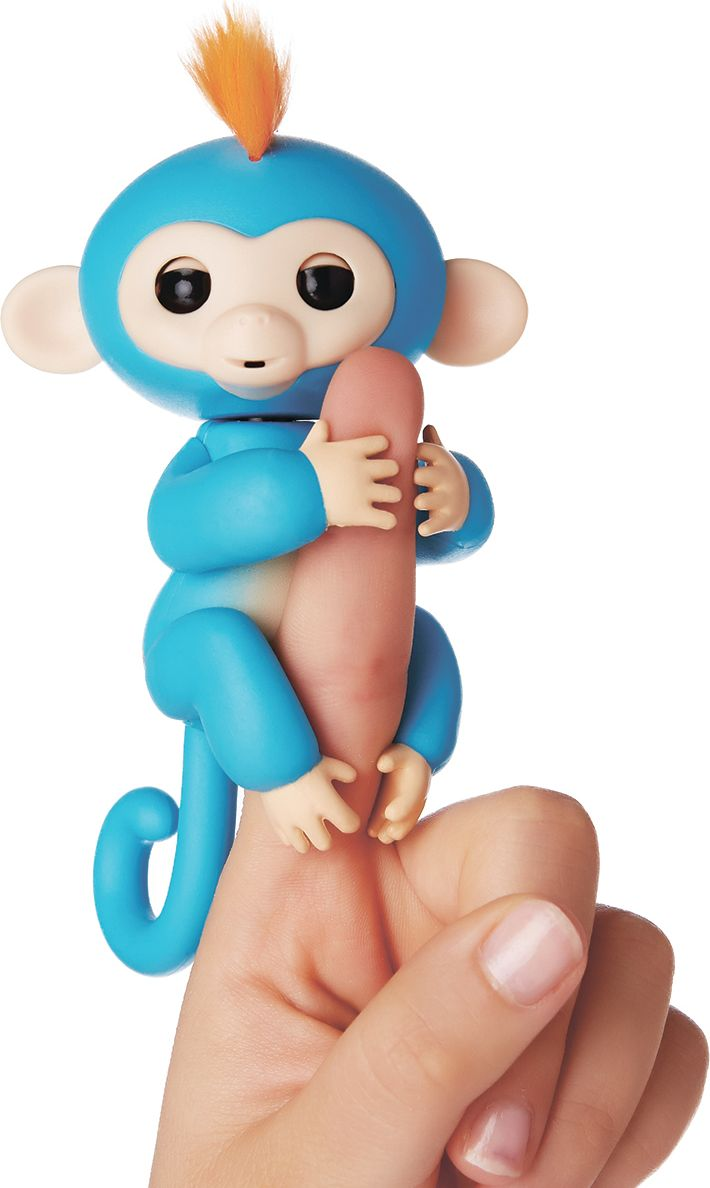 Fingerlings Интерактивная игрушка Обезьянка Борис цвет синий 12 см - Интерактивные игрушки