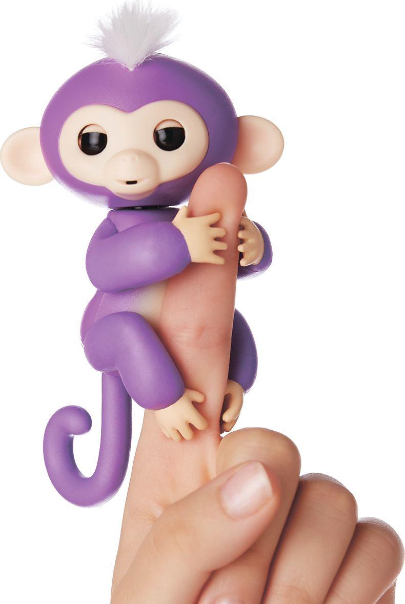 Fingerlings Интерактивная игрушка Обезьянка Миа цвет: фиолетовый, 12 см - Интерактивные игрушки