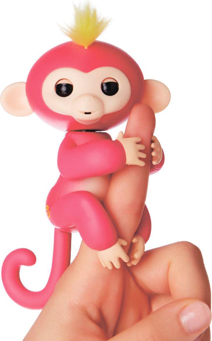 Fingerlings Интерактивная игрушка Обезьянка Белла цвет розовый 12 см - Интерактивные игрушки