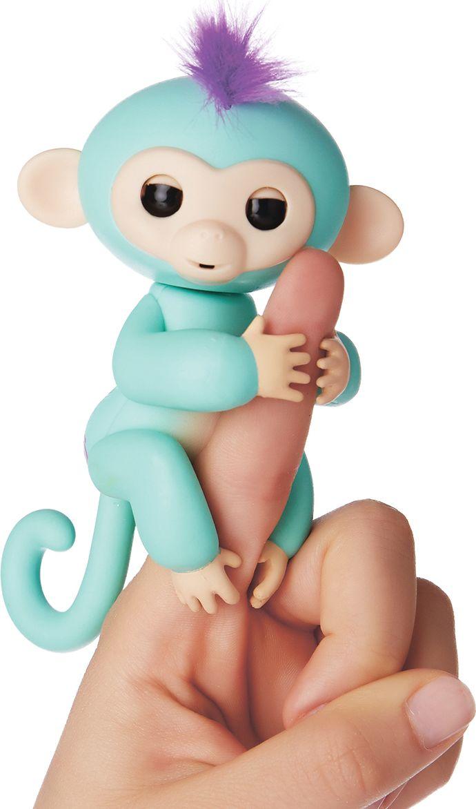 Fingerlings Интерактивная игрушка Обезьянка Зоя цвет зеленый 12 см - Интерактивные игрушки