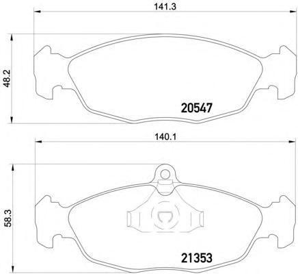 Колодки тормозные дисковые, комплект BEHR-HELLA 8DB3550075318DB355007531