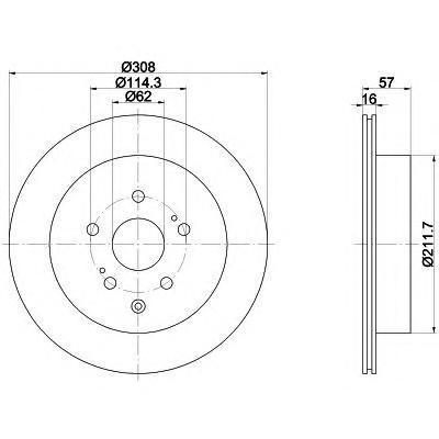 Диск тормозной задний вентилируемый Textar 92222200 комплект 2 шт92222200