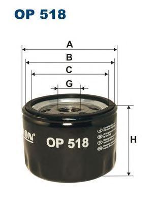 Фильтр масляный Filtron OP518OP518