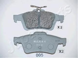 Колодки тормозные дисковые Japanparts PP005AFPP005AF