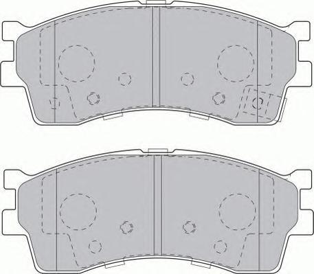 Колодки тормозные дисковые Premier Ferodo FDB1602FDB1602