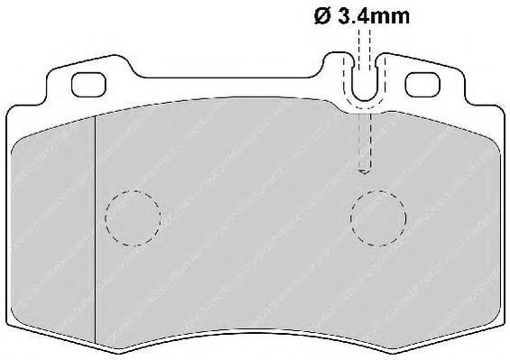 Колодки тормозные дисковые Premier Ferodo FDB1661FDB1661