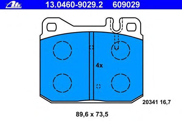 Колодки тормозные дисковые Ate 1304609029213046090292
