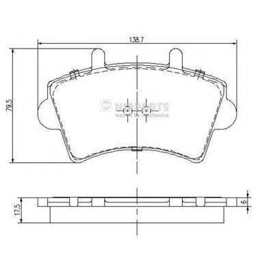 Колодки тормозные передние Nipparts J3601079J3601079
