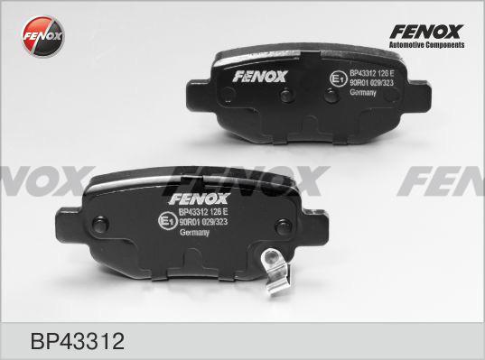 Колодки тормозные дисковые Fenox BP43312BP43312