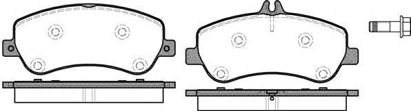 Колодки тормозные дисковые передние, 4 шт Road House 21377002137700