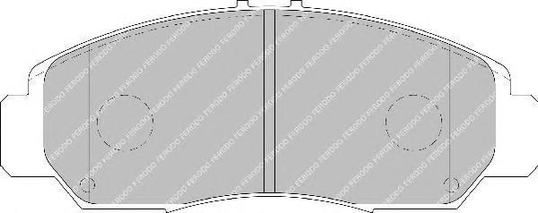 Колодки тормозные дисковые Premier Ferodo FDB1669FDB1669