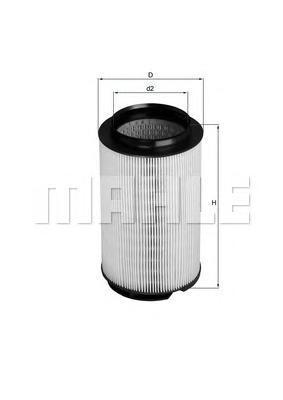 Фильтр воздушный Mahle/Knecht LX1628LX1628