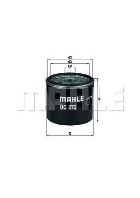 Фильтр масляный Mahle/Knecht. OC272OC272