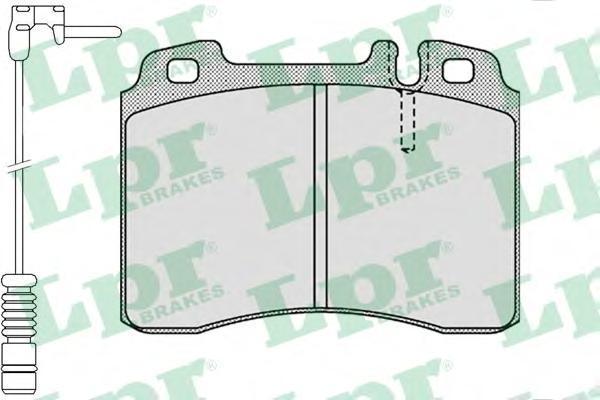 Колодки тормозные передние LPR / AP 05P1131A05P1131A