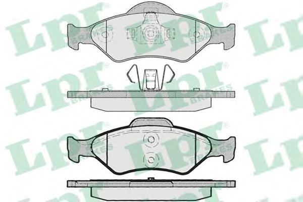 Колодки тормозные задние LPR / AP 05P79505P795