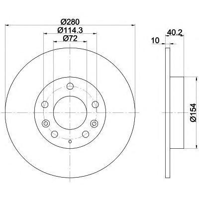 Диск тормозной Pro BEHR-HELLA 8DD355110381 комплект 2 шт8DD355110381